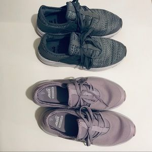 Avia sneakers. 2 pairs one purple one gray. 9